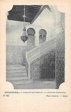 Mustapha Algeria Governors Palace Interior Staircase Antique Postcard (J34665)
