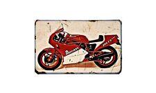 Ducati 350 F3 Desmo Motorbike Sign Metal Retro Aged Aluminium Bike