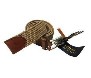 Polo Ralph Lauren Men's Brown Braided Buckle Belt