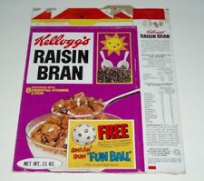 1976 Kelloggs Raisin Bran Cereal Box w/ Fun Ball offer