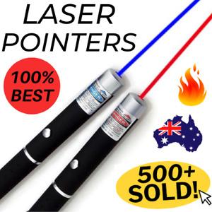 🔥 PREMIUM LASER POINTER Blue Red <1mW LAZER Beam Presentation Pen Cat Toy AU 🔥