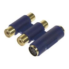 Coupleur s/Vidéo Femelle 4 Pins + 2 RCA Femelle Surmoulée Capot Plastique