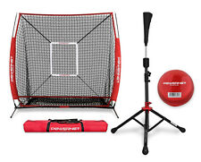 PowerNet 5x5 Hitting Net + Portable Tee Bundle + more  w/ FREE Carry Bag