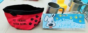 Pet Travel Water Bowl, Collapsible.