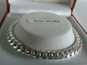 Sterling Silver Ladies Solid Curb Bracelet.  16 Grams. 7.5 inch. Hallmarked.