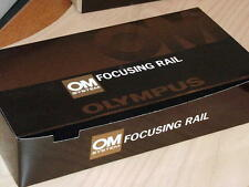 OLYMPUS OM FOCUSING RAIL FOR AUTO MACRO BELLOWS OR FOCUSING STAGE NEW IN BOX