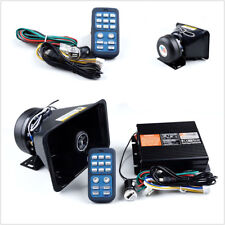 400W 8 Sound Autos Police Fire Warn Siren Horn Speaker Wireless Amplifier System