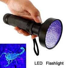 100 LED UV Flashlight Torch Light Lamp Ultraviolet Blacklight Aluminum 395 nM