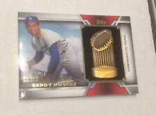 2014 Topps Update Sandy Koufax World Series Championship Trophy Card 66/ 99