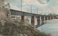 (Q)  Logansport, IN - Indiana Union Traction Bridge Over Wabash River - End View