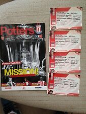 STOKE CITY V ARSENAL FA CUP 4TH ROUND 2010 PROGRAMME AND TICKETS