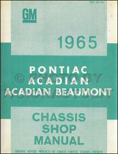 1965 Pontiac Canadian Shop Manual Parisienne Laurentian Strato Chief Beaumont