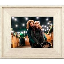 8 Digital Photo Frame Ivory Wood Tone - Polaroid
