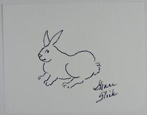Grace Slick JSA Signed Autograph 8.5 x 11 sketch Jefferson Airplane