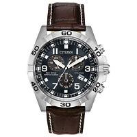 Citizen Eco-Drive Men's Titanium Case Chronograph Leather 43mm Watch BL5551-06L