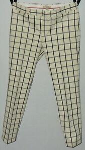 Banana Republic Women's Pants Sz12 Sloan Fit Country Beige, Black Gray Stripes #