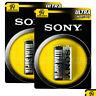 2 x SONY 9V batteries Ultra Heavy Duty Super Zinc Carbon 6F22 Transitor E-Block