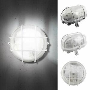 LED Wandleuchte Deckenleuchte Außenleuchte Keller Rund/Oval Weiß/Grau E27-230V