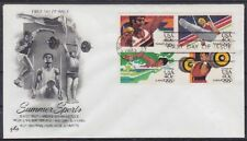 USA FDC 1622 - 1625 4er Block Summer Sports, gest. Los Angeles 1983, frist day