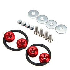 Red JDM CNC Quick Release Fasteners For Car Bumpers Trunk Fender Hatch Lids Kit