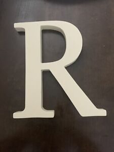 """POTTERY BARN KIDS Wall Letter 8inch White """"R"""""""
