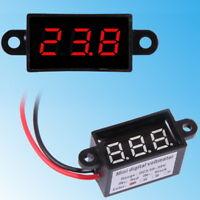 Wasserdicht Digital Voltmeter 3-30V DC Rot Blau Grün Gelb Spannungsanzeige Mini