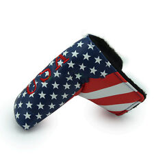 USA Flag Golf Putter Head cover For Taylormade Odyssey Scotty Cameron Ping Blade