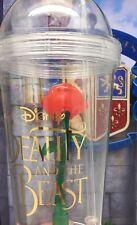 4ce03582935 Disneyland Beauty and The Beast Enchanted Rose Souvenir Light Up Cup Tumbler  Mug