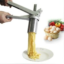 New Steel Spaghetti Fettuccine Pasta Noodle Maker Press Machine with 7 Moulds