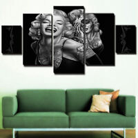 5pcs/set Modern Marilyn Monroe Painting Home Canvas Art Picture Print Wall Decor