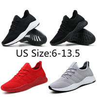 Men's Running Walking Sports Shoes Casual Breathable Athletic Sneakers Big Size
