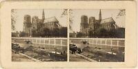 Notre-Dame De Paris Francia Foto PL54L1n Stereo Vintage Analogica c1900