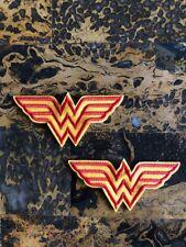 "2 Wonder Women Superhero Iron On Sew On Patch 1.5"" L x 3.25"" W Same Day Ship"