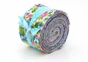 New Vintage Floral Shabby chic light jelly roll cotton fabric quilt strips 2 5