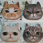 Hot Cat Face Purse Coin Money Bag Zipper Wallet Pouch Pocket Makeup Handbag