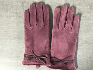 NEW Pink Totes Isotoner Luxury Suede Gloves Medium/Large