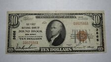 $10 1929 Bound Brook New Jersey NJ National Currency Bank Note Bill Ch. #3866 VF