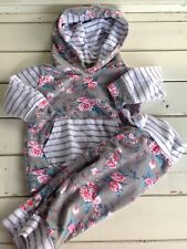 Kang Kang Floral Hooded Top Pants Set Baby Girls Toddler 80 ~ 18 24 Months *WoW
