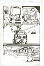 Pandemica #4 pg 17 Original Art Alex Sanchez bestselling author Jonathan Maberry