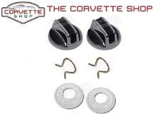 C3 Corvette Interior Inside Door Lock Knob Clip & Plastic Spacers Knobs 1968-77