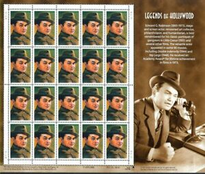 Edward G. Robinson Legends of Hollywood Sheet of Twenty Scott 3446