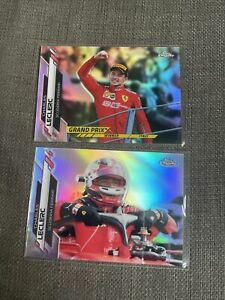 Charles Leclerc (2) 2020 Topps Chrome Formula 1 #146 #177 Refractor Lot