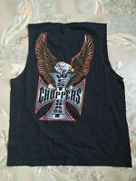Jesse Who? West Coast Choppers Men's Black Tank Shirts Eagle Cross Size Xl