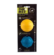 Throbizz Big Dog 2 Pack Long Baller super tough rubber balls Treat Friendly toy