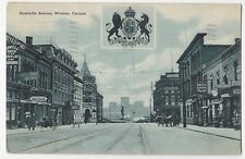 Windsor Ontario Ouellette Avenue Street Scene - Litho 191? - Good - Store Signs