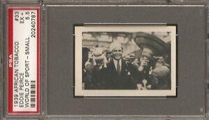 ~ 1939 African Tobacco #33 Small ~ EDDIE PEIRCE ~ PSA 5.5 ~ Vingtage Boxing !!