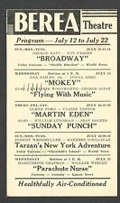 1942 BEREA THEATRE OH SHOWING BROADWAY W/ G RAFT AND MANY OTHERS
