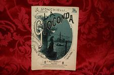 Libretto Antico 1914 Melodramma La Gioconda Musica di A.Ponchielli G.Ricordi & C