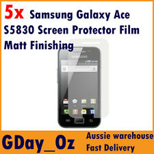 5x Samsung Galaxy Ace S5830 Screen Protector Film (Anti-Glare Finishing)