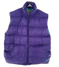 Vintage Reebok Outdoor Men Down Filled Purple Turquoise Full Zip Puffer Vest XL